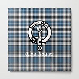 Tartan & Crest - Clan Napier Metal Print