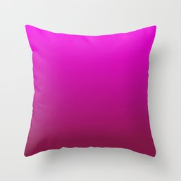 WINE MAGENTA Ombre color pattern Throw Pillow