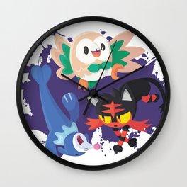 Alola Starters Wall Clock
