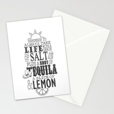 Life is like a bottle of Tequila... Stationery Cards