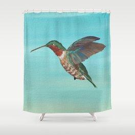 Hummingbird on the Move Shower Curtain