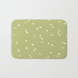 Light Green and White Grid - Missing Pieces Bath Mat