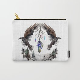 Black Ravens In The Crystal Woods Carry-All Pouch