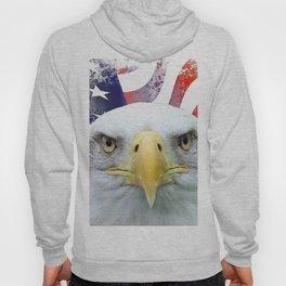 American Flag and Bald Eagle Hoody