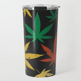 Cannabis Leaf Pattern Travel Mug