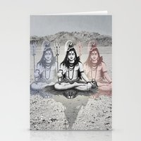 shiva Stationery Cards featuring Shiva by Jonnea Herman