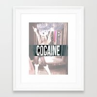 cocaine Framed Art Prints featuring Cocaine by Randall Hansen