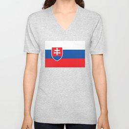Slovakia Flag - Slovak Republic Flag Unisex V-Neck