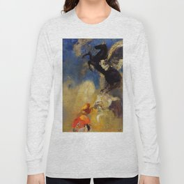 "Odilon Redon ""The Black Pegasus"" Long Sleeve T-shirt"