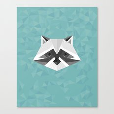 Geometric Racoon Canvas Print