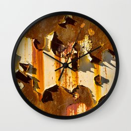 Paint on rust Wall Clock