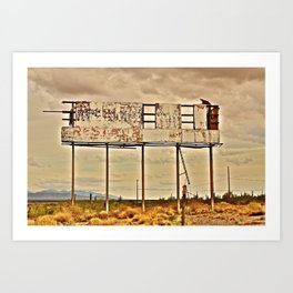 Abandoned Billboard Art Print