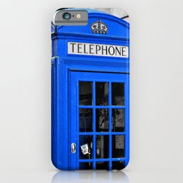 Red Booths Turned Tardis iPhone Case