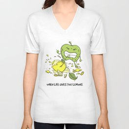 When Life Gives You Lemons by dana alfonso Unisex V-Neck
