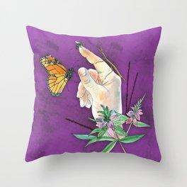 Prairie Hand 1 (Purple) Throw Pillow