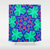 kaleidoscope Shower Curtains featuring Kaleidoscope by Mr & Mrs Quirynen