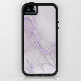 Marble Love Purple Metallic iPhone Case