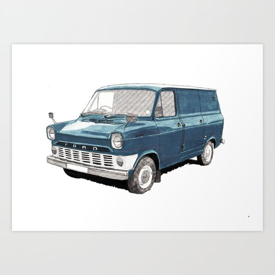 Ford Transit Mark 1 Art Print