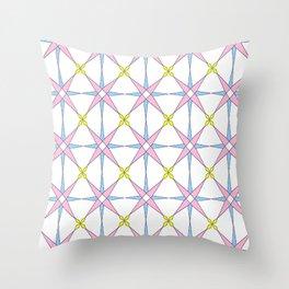 symetric patterns 45 -mandala,geometric,rosace,harmony,star,symmetry Throw Pillow