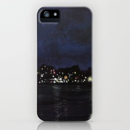Midland Harbour at Night iPhone Case