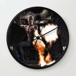 Kung Fu Man Wall Clock