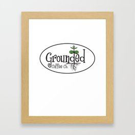 GROUNDED COFFEE Framed Art Print