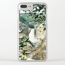 Yellowstone Falls in Yellowstone National Park Wyoming Clear iPhone Case