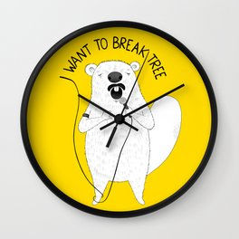 Beaver singing Queen | Animal Karaoke | Illustration Wall Clock