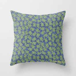 I See Leaves of Green Throw Pillow