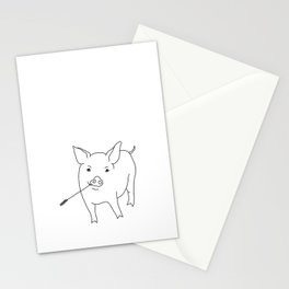 the pig Stationery Cards