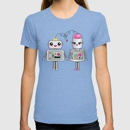 Cute robots in love T-shirt