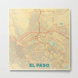 El Paso Map Retro Metal Print