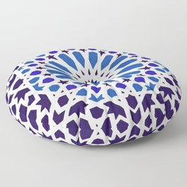 V19 Epic Light Blue Traditional Moroccan Pattern Design . Floor Pillow