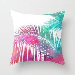 Palms Explosion Throw Pillow