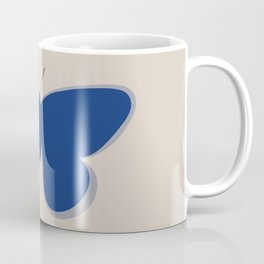 Butterfly Single in Blue and Stone Coffee Mug