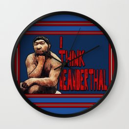 Neanderthought Wall Clock