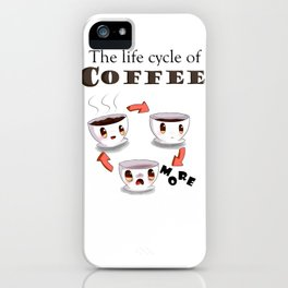 Life cycle of coffee iPhone Case