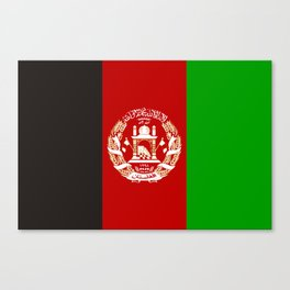 Afghanistan country flag Canvas Print