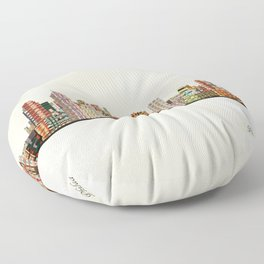 philadelphia skyline Floor Pillow