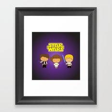 Star Wars Trio Framed Art Print