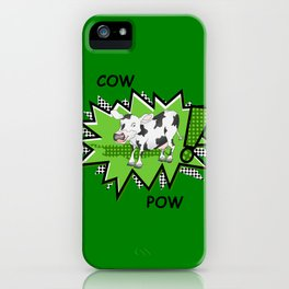 Cow Pow iPhone Case