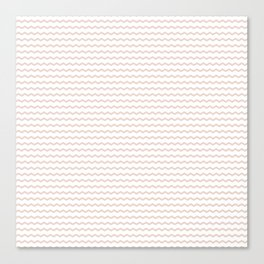 Rose pale geometrical zigzag pattern Canvas Print