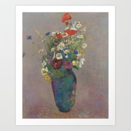 Odilon Redon - Vision - vase of flowers Art Print