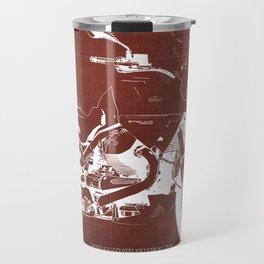 2010 Moto Guzzi Stelvio 1200 4V red blueprint Travel Mug