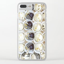 Colorful cake pops Clear iPhone Case