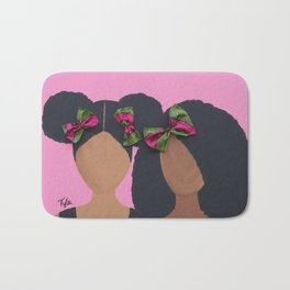 Sisters Pink and Green Bath Mat