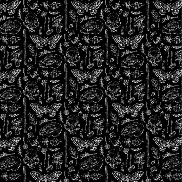 Witchcraft II [B&W] Duvet Cover