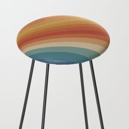 Retro 70s Sunrays Counter Stool