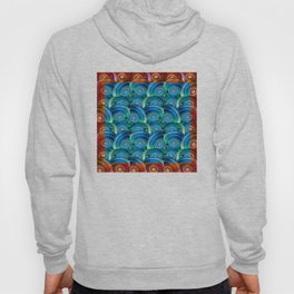Circle design with Heart Hoody