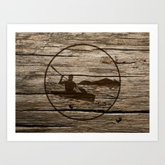 kayaking Art Print